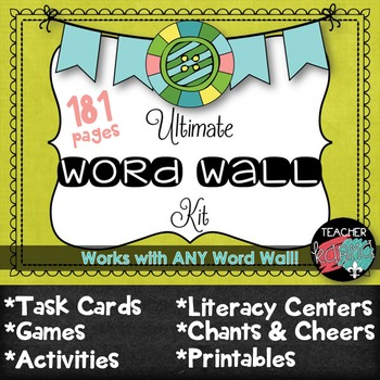 Ultimate Word Wall Kit ~ Works w/ ANY Word Wall ~ 181 pg.