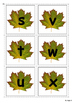 Upper Case & Lower Case Letter Matching Activity- Fall Leaves