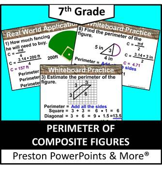 (7th) Perimeters of Composite Figures in a PowerPoint Pres