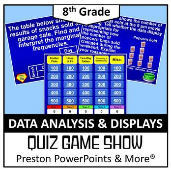 (8th) Quiz Show Game Data Analysis and Displays in a Power