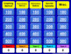 (8th) Quiz Show Game Systems of Linear Equations in a Powe