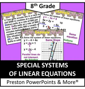 (8th) Solving Special Systems of Linear Equations in a Pow