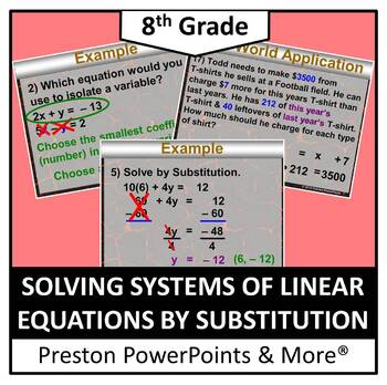 (8th) Solving Systems of Linear Equations by Substitution