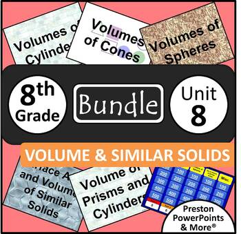 (8th) Volume and Similar Solids {Bundle} in a PowerPoint P