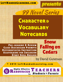 {99 Novel} Snow Falling on Cedars by David Guterson Charac