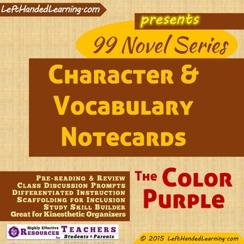 {99 Novel} The Color Purple by Alice Walker Character & Vo