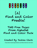 {A} Find and Color Freebie