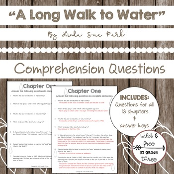 """""""A Long Walk to Water"""" Comprehension Questions"""