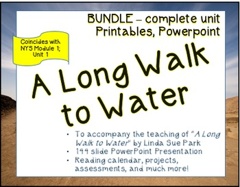 """""""A Long Walk to Water"""" Full Unit; coincides with Module 1;"""
