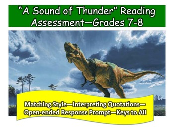 """A Sound of Thunder"" Reading Assessment—Grades 7-8"