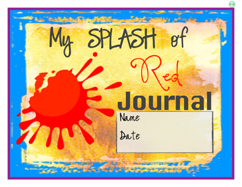 """""""A Splash of Red"""" Journal Cover and Pages"""