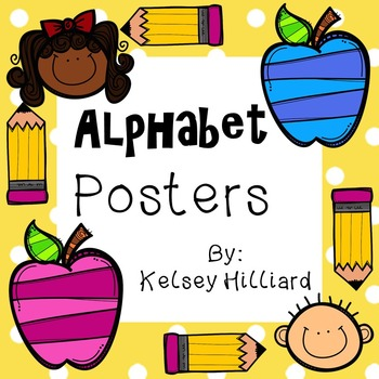 (A-Z ) Alphabet Posters for Classroom with vocabulary words