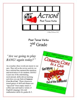 """""""ACTION!"""" Past Tense Verbs Grade 2 Common Core Game Packet"""
