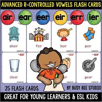 AIR, ERR, IER, EER, EIR, EAR Flash Cards