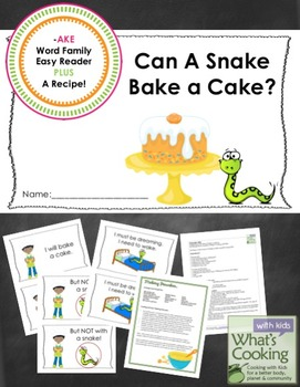 -AKE Word Family Easy Reader and Cooking Activity