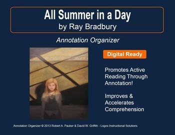 """All Summer in a Day"" by Ray Bradbury: Annotation Organizer"