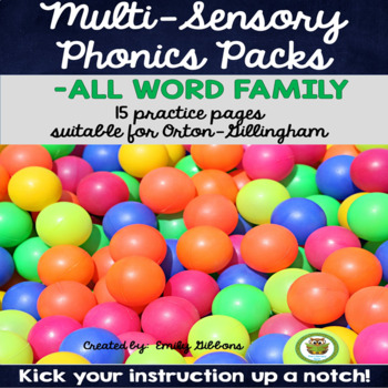 -ALL Word Family Activities Multisensory Phonics Practice