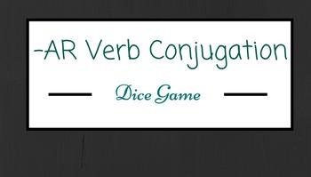 Spanish -AR Verb Conjugation Practice Game