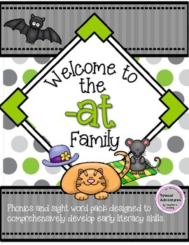 -AT WORD FAMILY PHONICS AND SIGHT WORD WORK EARLY LITERACY