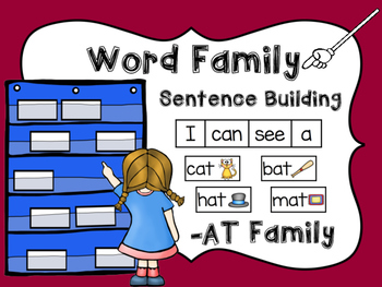 -AT Word Family Sentence Building