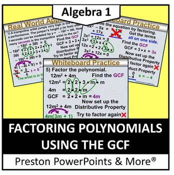 (Alg 1) Factoring Polynomials Using the GCF in a PowerPoin