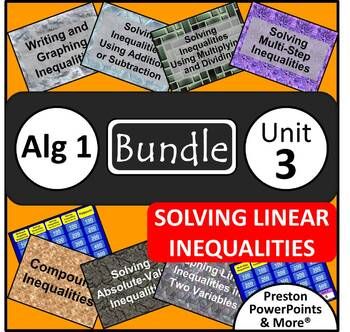 (Alg 1) Solving Linear Inequalities {Bundle} in a PowerPoi