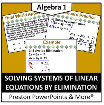 (Alg 1) Solving Systems of Linear Equations by Elimination
