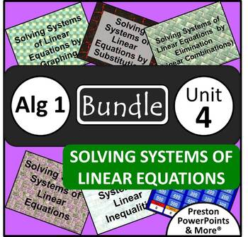 (Alg 1) Solving Systems of Linear Equations {Bundle} in Po