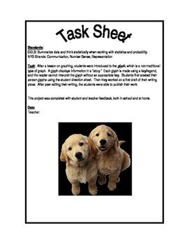 """All About Me"" Glyph Bulletin Board Task Sheet"