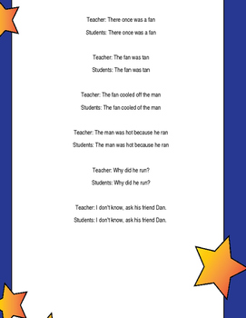 """An"" family poem - rhyming"