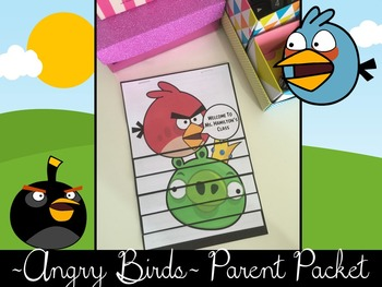 ~Angry Birds~ Parent Packet/Flip Book