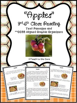 """""""Apples"""" 3rd-6th *CCSS Aligned* Close Reading Text Passage"""