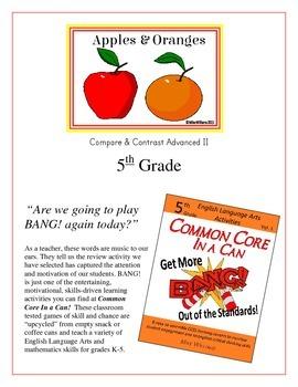 """Apples & Oranges!"" Compare & Contrast 5th Grade Common Co"