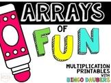 {Arrays of Fun!} Multiplication Printables with Bingo Daubers