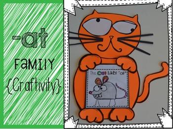 """At"" Word Family {Craftivity}"