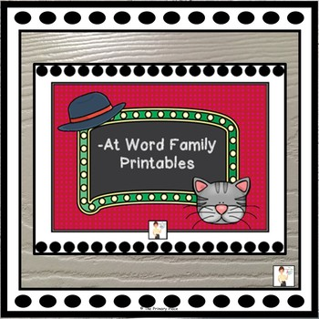 -At Word Family Printable Worksheets