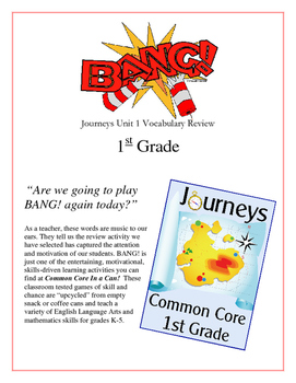 """BANG!"" 1st Grade Houghton Mifflin Journeys Unit 1 Vocabul"