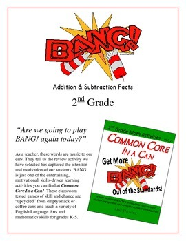 """BANG!"" Addition & Subtraction 2nd Grade Common Core Game Packet"