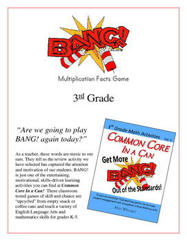 """BANG!"" Multiplication Facts 3rd Grade Common Core Game"