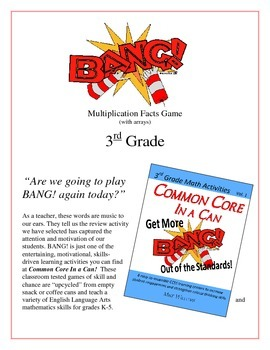"""BANG!"" Multiplication Facts with Arrays 3rd Grade Common"