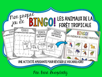 {BINGO: Les Animaux de la forêt tropicale} A vocabulary-re