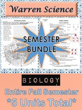 BIOLOGY: Semester Unit Bundle (Fall)  -  ***5 Total Units*