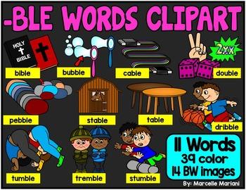 -BLE ENDING WORDS CLIP ART
