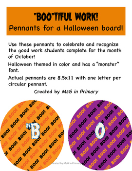 """BOO""TIFUL WORK! Bulletin Board Header"