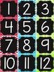 {BRIGHT COLORS} 100 Pocket Chart Numbers