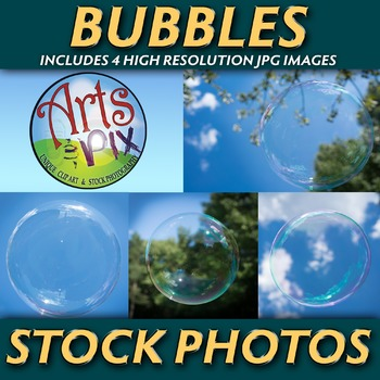 "! ""BUBBLES"" - Stock Photo Pack - Close UP Photographs of Bubbles"