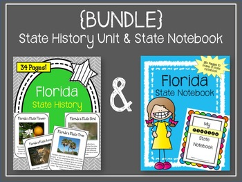 {BUNDLE} Florida State History Unit and State Notebook Bundle
