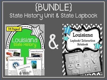 {BUNDLE} Louisiana State Lapbook and State History Unit. I