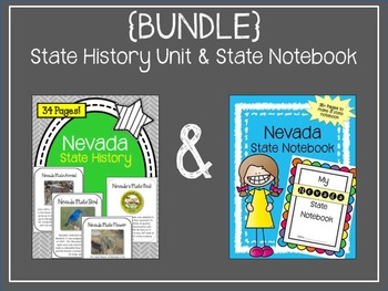 {BUNDLE} Nevada State History Unit and State Notebook.  US
