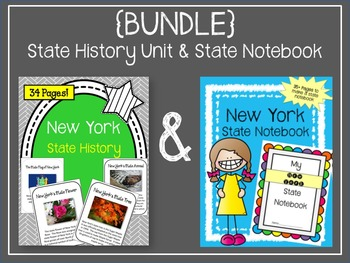 {BUNDLE} New York State History Unit and State Notebook. U